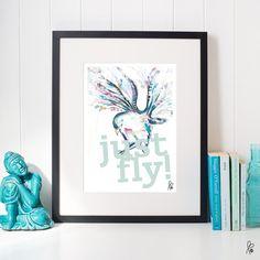 Printable / Plakat just fly von sppiy auf Etsy