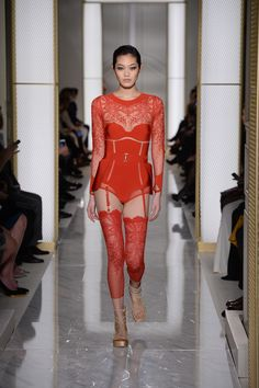 Luxury lingerie label La Perla debuted its first Atelier Couture fashion  show at the Spring Summer 2015 Paris Haute Couture Week. 392706418