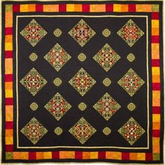 Amber by Janet Sansom. Check it out in person in Paducah Quilt show end of April 2017.  Picture doesn't do it justice