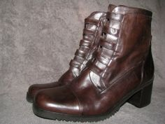 Vintage Brown Lace Up Granny Boots 7 Distressed by LIFEofOLWEN, $49.99