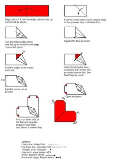 Love Origami: Origami Flapping Heart