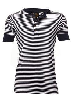 748e86e47e Nautical Stripe Short Sleeve Mens Henley Women s Henley