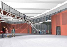 zo zouden scholen in de toekomst er uit kunnen zien bijvoorbeeld op een braakliggend terrein
