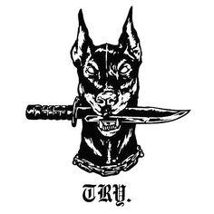 〰 〰 Try not to fight try to survive Tattoo Drawings, Body Art Tattoos, Hand Tattoos, Fake Tattoo, I Tattoo, Dobermann Tattoo, Tatouage Sublime, Arte Dope, Petit Tattoo