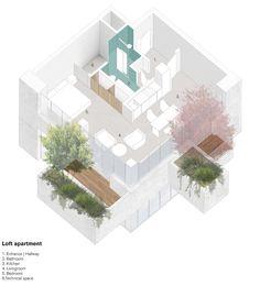 dezain.net - ステファノ・ボエリが計画しているオランダ、アイントホーヘンの垂直緑化がなされた集合住宅ビル