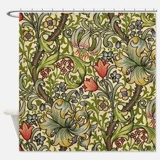William Morris Golden Lily pattern Shower Curtain for