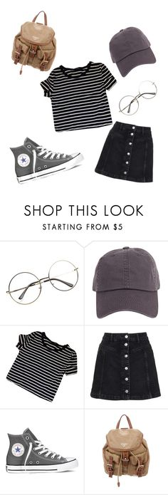 """""""Cute and casual """" by lydiaviolet ❤ liked on Polyvore featuring Armitage Avenue, Topshop, Converse and Prada"""