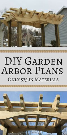 DIY Garden Arbor Plans -Include a complete materials needed list and step-by-step cutting and assembly instructions. - sponsored - DIY Arbor - backyard arbor - Backyard DIY - Garden Arbor - Trellis - Backyard decor