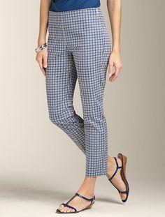 Talbots - Heritage Fit Circle-Print Crop   Pants   Woman