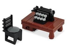Microscale | H. P. Lovecraft's Typewriter | by Xenomorphy http://moc.bricklink.com/pages/moc/mocitem.page?idmocitem=54