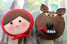 Little Red Riding Hood cupcakes...rework for cookies.  balloon cutter for red.   love!