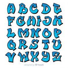 Discover thousands of free-copyright vectors on Freepik Grafitti Letters, Graffiti Lettering Alphabet, Tattoo Lettering Fonts, Doodle Lettering, Graffiti Alphabet Styles, Lettering Styles, Lettering Design, Font Art, Lettering Tutorial
