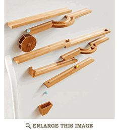 Wood magazine, magnetic marble run... http://www.woodstore.net/marblerun.html