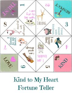 Positive Affirmation Self-Compassion Game for children and families to play together, reminding kids they are lovable and belong.  Inspired by Brene Brown's work.  Awesome tool for school counselors and teachers too.