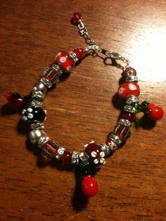 Murano glass beads bracelet.