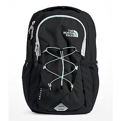 The North Face Women's Jester Laptop Backpack (Black/Origin Blue) Laptop Backpack, Black Backpack, Laptop Bags, Backpack Bags, North Face Women, The North Face, Cute Backpacks For School, Teen Backpacks, Leather Backpacks