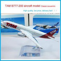 [Visit to Buy] Cheerleading craft Souvenirs TAM B777-200 airlines air plane model  Simulation metal airplane model,aircraft model child Gift #Advertisement