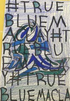 Kim & Karen: 2 Soul Sisters (Art Education Blog): #TRUEBLUEMACLAY, Middle School Art Lesson