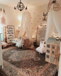 Classic Tulle Canopy Little Girls Room Canopy Classic Tulle Big Girl Bedrooms, Little Girl Rooms, Girls Bedroom, Baby Bedroom, Nursery Room, Girl Nursery, Vintage Nursery Girl, Nursery Ideas, Hippie Nursery