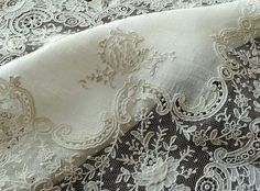 Exquisite Antique Point de Gaze Lace