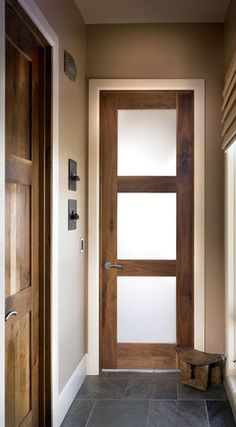 White trim; wood Interior Doors; hallway