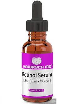 HAWRYCH MD 2.5% Retinol Serum combines proven antioxidants vitamin A and E to maximize the results. Combined with synergistic blend of active ingredients it softens, heals and moisturizes the skin. Th