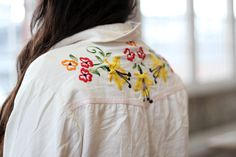 Beautiful embroidered shirt from Free People's blog.