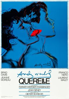Querelle (Rainer Werner Fassbinder, 1982) German design with artwork by Andy…