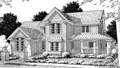 #655816 - 4 bedroom 4 bath Farmhouse with spacious kitchen : House Plans, Floor Plans, Home Plans, Plan It at HousePlanIt.com