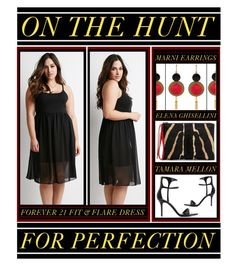 On The Hunt For Perfection by latoyacl on Polyvore featuring Forever 21, Tamara Mellon, Elena Ghisellini and Marni