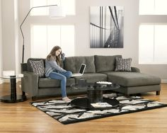 Signature Design by Ashley Siroun - Steel Contemporary 2-Piece Sectional