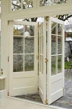 Orangerie style bifold doors
