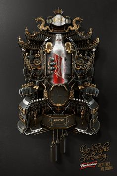 """Que buena gráfica """"great fights are coming. great times are coming"""" Budweiser: Cuckoo Clock Creative Advertising, Print Advertising, Print Ads, Advertising Agency, Print Poster, Viral Marketing, Guerilla Marketing, Ad Of The World, Grafik Design"""
