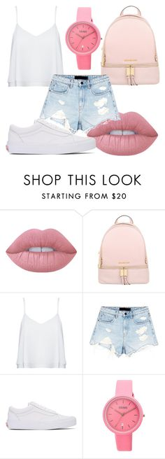 """""""Untitled #285"""" by alejandra-sassani ❤ liked on Polyvore featuring Lime Crime, MICHAEL Michael Kors, Alice + Olivia, Alexander Wang, Vans and Crayo"""