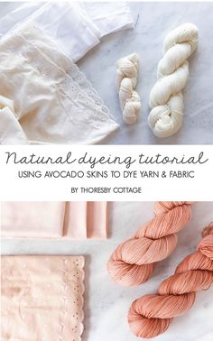 How to dye yarn with avocado skins - Thoresby Cottage Crochet Home, Crochet Yarn, Free Crochet, Crochet Stitches, How To Tie Dye, How To Dye Fabric, Natural Dye Fabric, Natural Dyeing, Au Natural