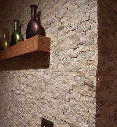 My stone tile wall. split faced byzantine natural stone