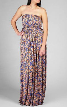Plus Size Maxi Dresses | Rachel Pally Plus Size Strapless Maxi Dress