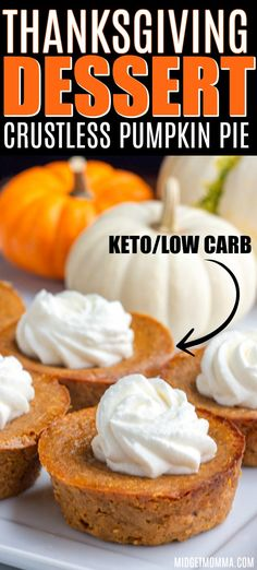 This Mini crustless pumpkin pie recipe is perfect for anyone who is looking for a low carb pumpkin pie or a keto pumpkin pie. This Mini crustless pumpkin pie recipe is perfect for anyone who is looking for a low carb pumpkin pie or a keto pumpkin pie. Crustless Pumpkin Pie Recipe, Low Carb Pumpkin Pie, Pumpkin Pie Recipes, Mini Pumpkin Pies, Pumpkin Recipes For Thanksgiving, Pumpkin Recipes For Diabetics, Diabetic Pumpkin Pie Recipe, Pumpkin Pie Cookies Recipe, Recipe Using Pumpkin