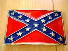 "CSA Rebel Confederate Flag Enamel Belt Buckle by JK Trading. $7.31. Heavy Metal Buckle.. Great Gift.. Size : 2 1/4"" (H) X 3 1/4"" (W)  It fits any Belt strap up to 1 1/2 inches in width.. Great Gift.     Heavy Metal Buckle.     Size : 2 1/4"" (H) X 3 1/4"" (W)     Use with a Removable Belt.     It fits any Belt strap up to 1 1/2 inches in width.     Matching your style clothes     Accessorize your attitude.     One size fit all"
