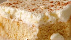 This light and fluffy tres leches cake recipe uses four types of milk and is topped with whipped cream, making it extra moist and delicious.