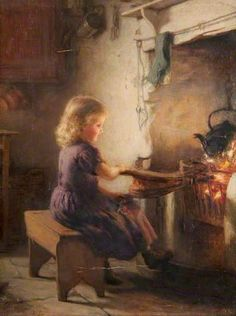 The Light of the Fireside, 1867 ~ Hugh Cameron ~ (Scottish: 1835-1918)  http://iamachild.wordpress.com/2013/04/30/hugh-cameron-1835-1918-scottish/