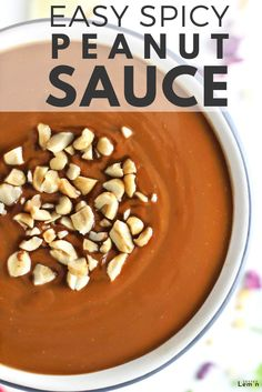 Easy Spicy Peanut Sauce is creamy, sweet, salty and slightly spicy all in one. It only takes 5 minutes to make and you can keep it in the fridge for whenever your heart desires. Easy Peanut Sauce, Peanut Sauce Recipe, Peanut Butter Sauce, Sauce Recipes, Road Trip Food, Recipe Filing, Food Is Fuel, Creative Food, Food To Make