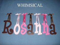 """8"""" Painted Wood Wooden Name Nursery Child Wall Letters ($14 for 2)"""