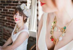 St Patrick's Day Wedding Inspiration. I love the necklace!