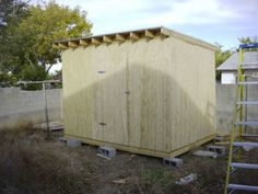 How to Build a Shed. Building your own shed can be a challenge, but it's a very rewarding project. A storage shed or garden shed can house your tools and equipment. A new shed is also a great place for work projects that won't clutter up. Outdoor Tools, Outdoor Sheds, Outdoor Projects, Outdoor Decor, Outdoor Storage, Backyard Storage, Outdoor Stuff, Wood Projects, Diy Storage Shed Plans