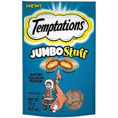 Temptations Jumbo Stuff Tempting Tuna Flavor Crunchy and Soft Cat Treats, oz. Salmon Cat, Homemade Cat Food, Wild Bird Food, Cat Treats, Bowls, Tuna, Pouches, Image Link, Kitty