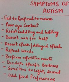 Symptoms of Autism - no the signs...wish I had known sooner :(