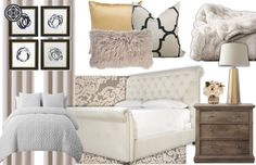 Glam style bedroom concepts