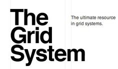 THE GRID SYSTEM ➤  is an ever-growing resource where graphic designers can learn about grid systems, the golden ratio and baseline grids. Made popular by the International Typographic Style movement and pioneered by legends like Josef Müller-Brockmann and Wim Crouwel, the grid is the foundation of any solid design.