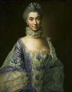 Madame de Pompadour (Portrait of a lady by Anna Rosina de Gasc, Ladies In Lavender, Rococo Fashion, 18th Century Fashion, Lavender Dresses, Best Portraits, Baroque, Fashion Painting, Period Costumes, Historical Costume